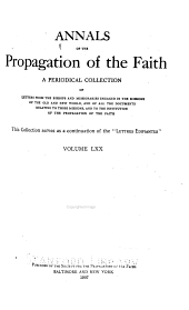 Annals of the Propagation of the Faith: Volume 70