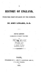 A History of England: From the First Invasion by the Romans, Volume 5