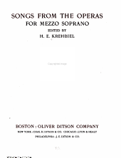 Songs from the Operas for Mezzo Soprano