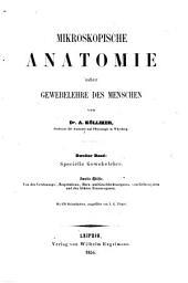 Mikroskopische Anatomie, oder, Gewebelehre des Menschen: Band 2