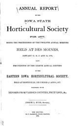 Report of the Iowa State Horticultural Society: Volume 12