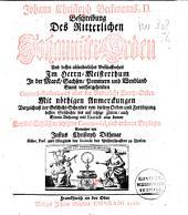 Beschreibung des ritterlichen Johanniter-Orden ... im Herrn-Meisterthum, in der Marck, Sachsen, Pommern und Wendland ...