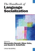 The Handbook of Language Socialization PDF