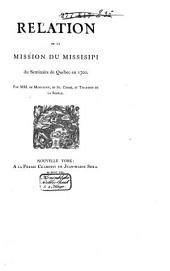 Relation de la mission du Missisipi du Séminaire de Québec en 1700