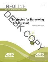 Strategies for Narrowing the Skills Gap PDF