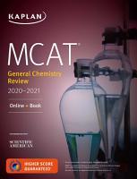 MCAT General Chemistry Review 2020 2021 PDF