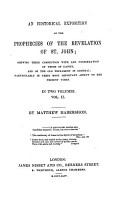 An Historical Exposition of the Prophecies of the Revelation of St  John PDF