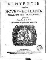 Sententie vanden Hove van Hollandt, Zeelandt ende Vrieslandt, jegens den Ritmeester Buat Gepron. den 11 Oct. Anno 1666