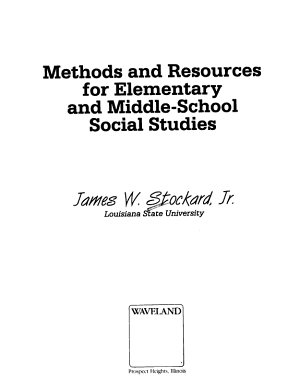 Methods and Resources for Elementary and Middle school Social Studies PDF