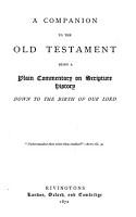 A Companion to the Old Testament PDF