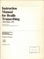 Instruction Manual for Braille Transcribing