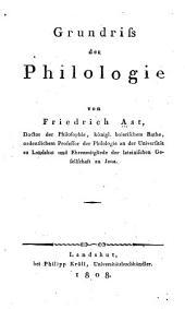 Grundriss der Philologie