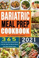 Bariatric Meal Prep Cookbook 2021
