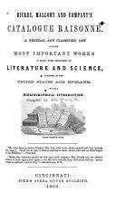 Rickey, Mallory and Company's Catalogue Raisonné