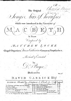 The Original Songs  Airs Choruses which were introduced in the Tragedy of Macbeth  etc PDF