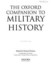 The Oxford Companion to Military History PDF