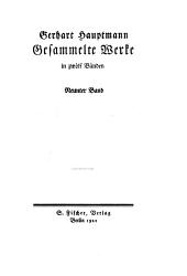 Gesammelte Werke: Bd. Bahnwärter Thiel. Der Apostel. Atlantis