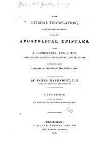 A New Literal Translation  from the Original Greek  of All the Apostolical Epistles PDF