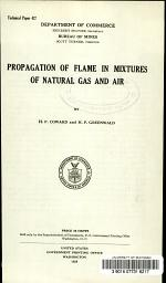 Propagation of Flame in Mixtures of Natural Gas and Air