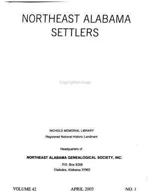 Northeast Alabama Settlers