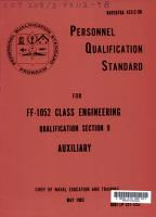 Personnel Qualification Standard for FF 1052 Class Engineering  Qualification Section 9  Auxiliary PDF