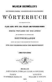 Wilhelm Obermüller's deutsch-keltisches, geschichtlich-geographisches Wörterbuch: Volume 2