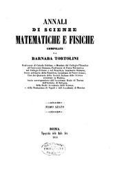 Annali di scienze matematiche e fisiche: Volume 6