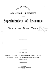 Annual Report of the Superintendent of Insurance to the New York Legislature: Part 3