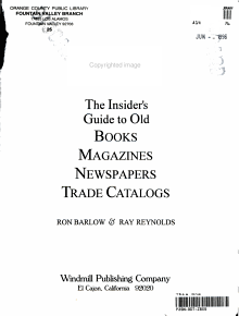The Insider s Guide to Old Books  Magazines  Newspapers  Trade Catalogs PDF
