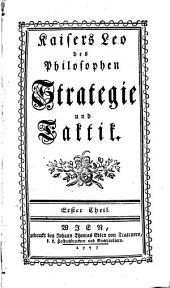 Strategie und Taktik: Vier Theile. 1