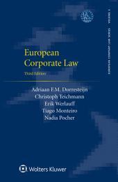 European Corporate Law: Edition 3