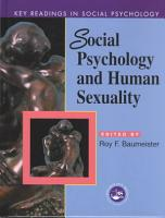 Social Psychology and Human Sexuality PDF