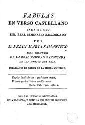 Fabulas en verso castellano: para el uso del Real Seminario Bascongado