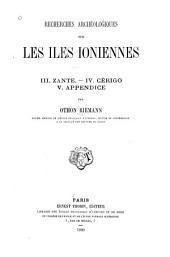 Recherches archéologiques sur les îles ioniennes: Céphalonie
