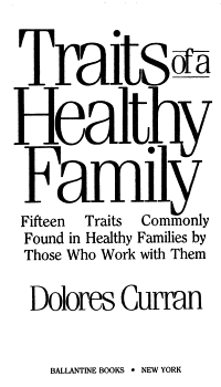 Traits of a Healthy Family