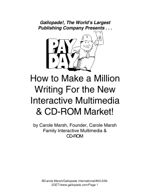 How to Make a Million Writing for the New Interactive Multimedia   CD ROM Market  PDF