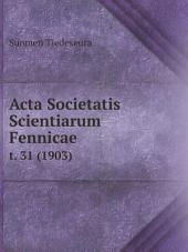 Acta Societatis Scientiarum Fennicae
