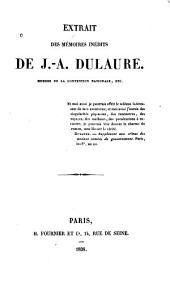 Extrait des mémoires inédits de J.A. Dulaure