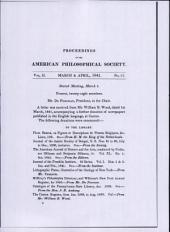 Proceedings, American Philosophical Society (vol. 2, no. 17)