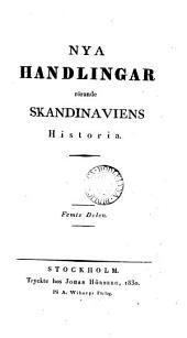 Handlingar rörande Skandinaviens historia. Kronologiskt register öfver de första 20 delarne, upprättade af B.E. Hildebrand. Alphabetiskt register öfver delarne 1-40