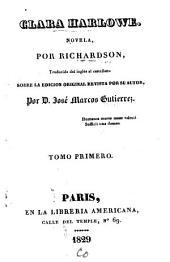 Clara Harlowe: novela, Volumen 1