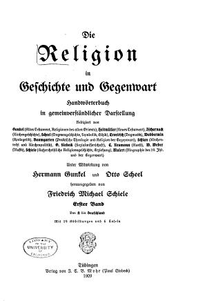 Die Religion in Geschichte und Gegenwart  Bd  A bis Deutschland PDF