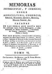 Memorias instructivas, y curiosas sobre agricultura, comercio, industria, economía, chymica, botanica, historia natural, &c: Volumen 6