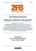 Der ehrbare Kaufmann  Modernes Leitbild f  r Unternehmer  PDF