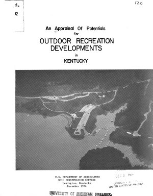 An Appraisal of Potentials for Outdoor Recreation Developments in Kentucky PDF