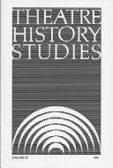 Theatre History Studies 1991