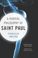 A Radical Philosophy of Saint Paul PDF