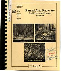 Bitterroot National Forest N F Burned Area Recovery Ravalli County Book PDF