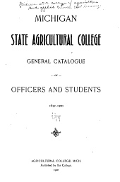General Catalogue of Officers and Students 1857-1900