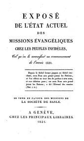 Exposé de l'état actuel des missions évangéliques chez les peuples infidèles